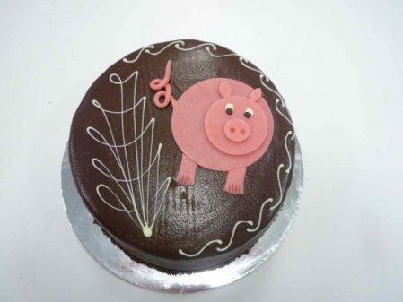 Pink Pig Mud Cake
