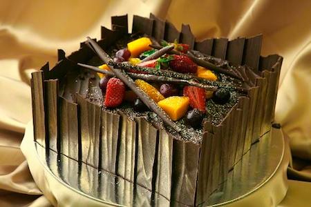 Chocolate cake chocolate box