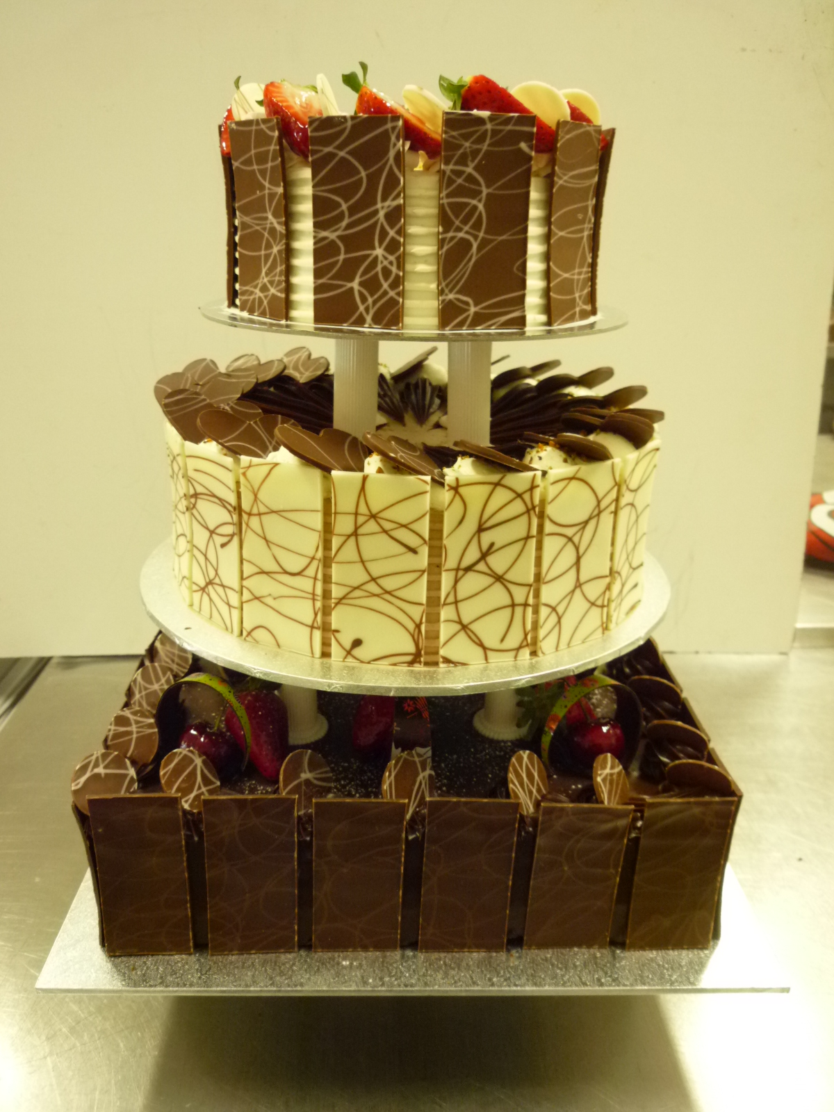 3 Tier Mud Cake Italian Torte Strawberry Gateau