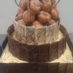 3 TIER MUD CAKE WITH PROFRITEROLE TOWER